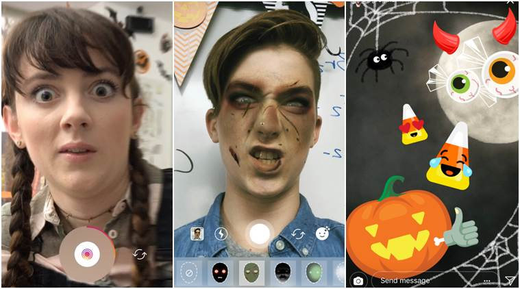 Instagram Superzoom Halloween stickers and face filters for camera