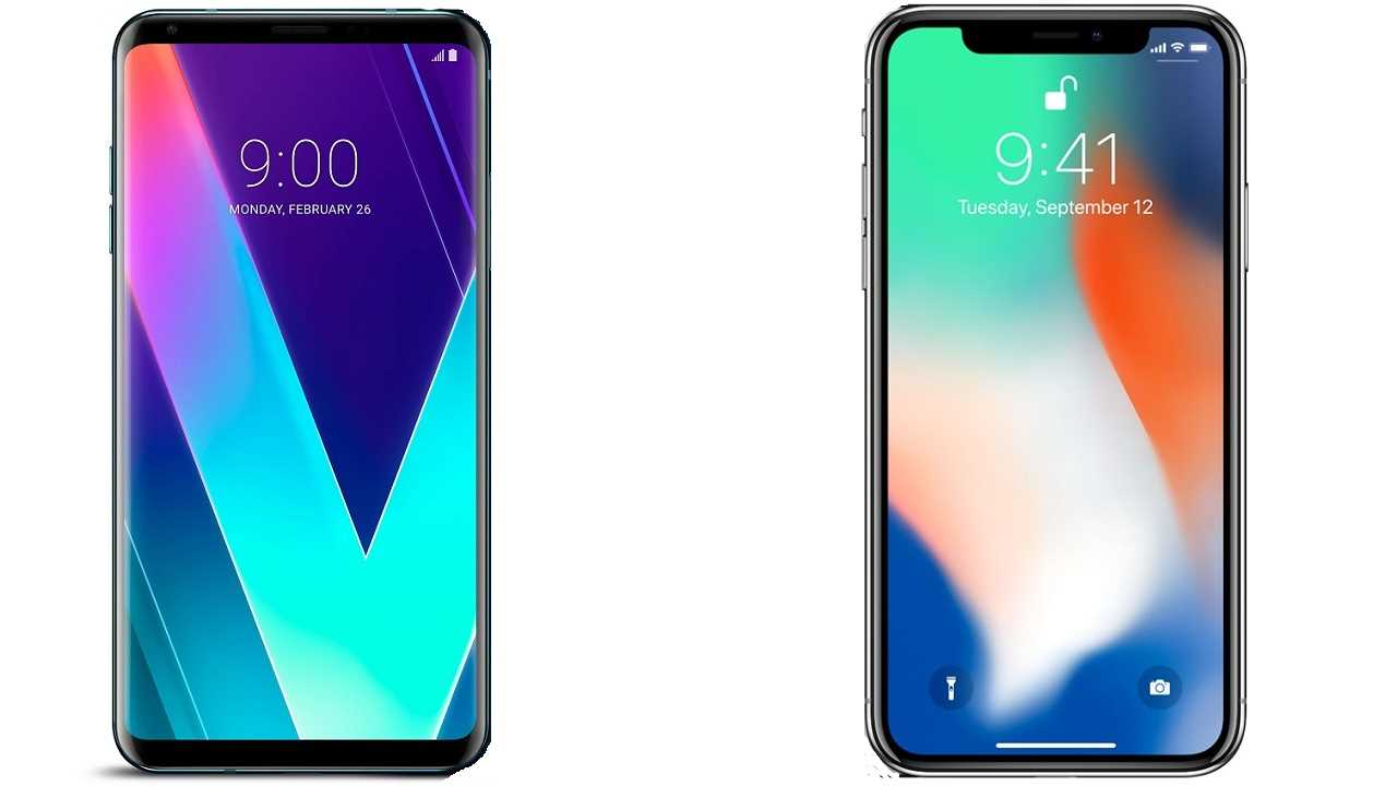 LG V30S ThinQ vs Apple iPhone X