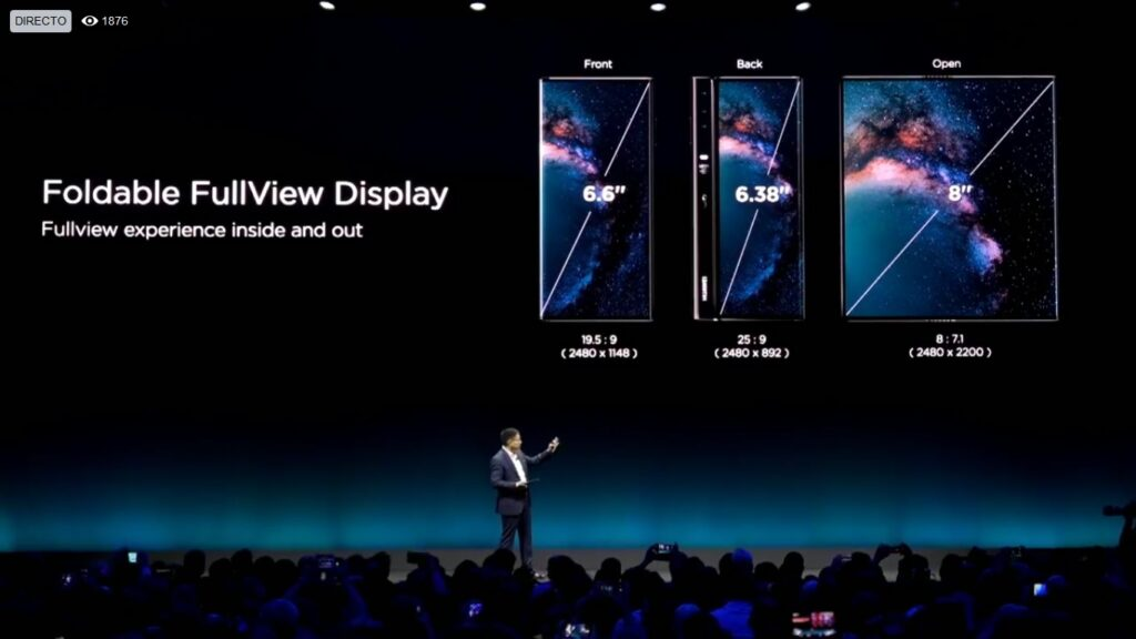 Huawei mate x display size