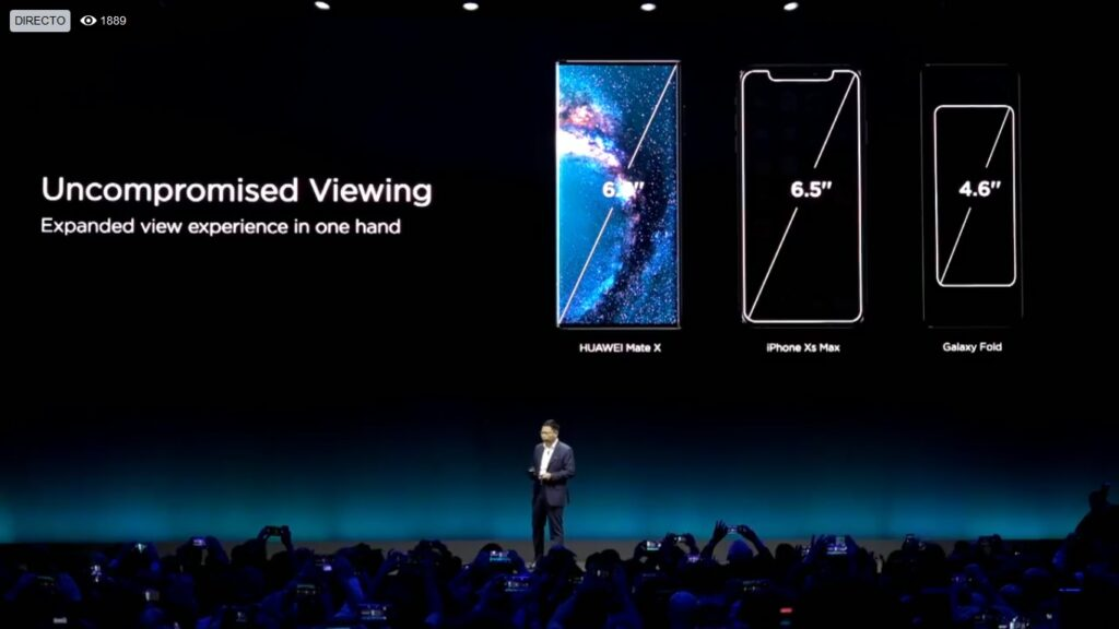 Huawei mate x size dimensions