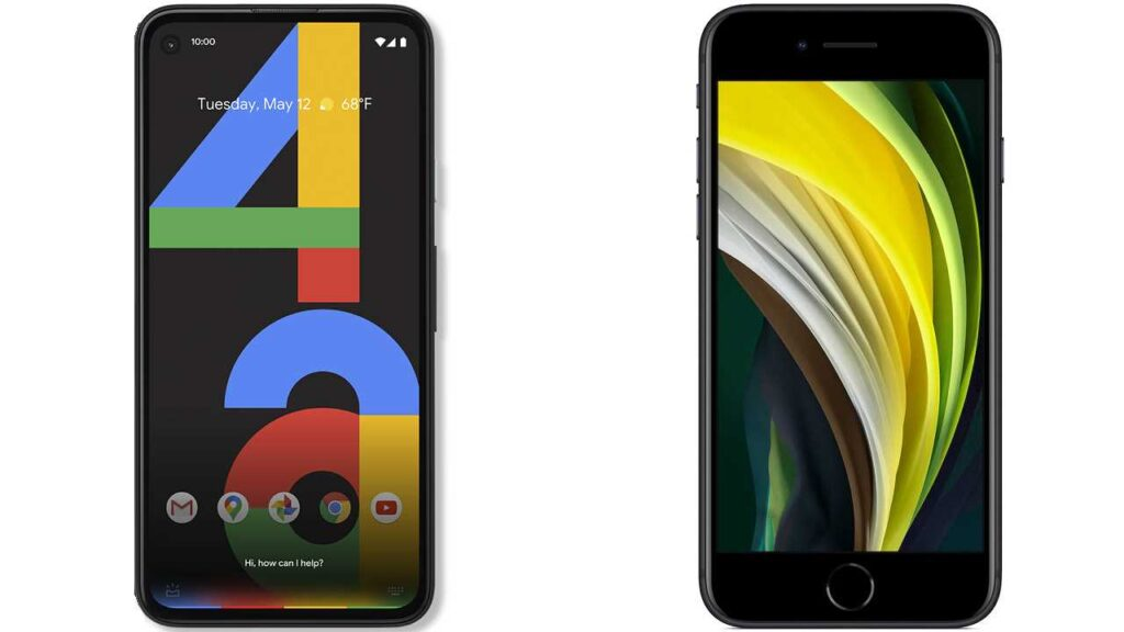 Google Pixel 4a vs Apple iPhone SE (2020)